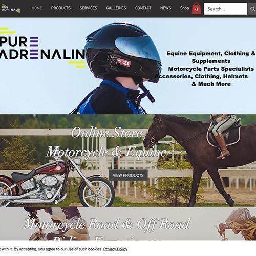 Pure Adrenalin Website